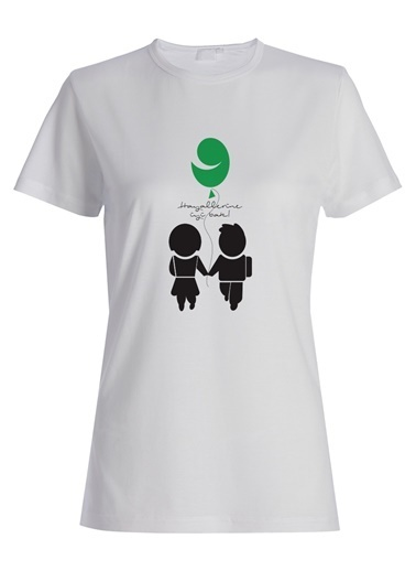 Yeşilay Simge Fıstıkoğlu Tişört Beyaz